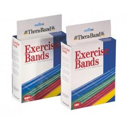"""Thera-Band putkinauha, """"Kevyt vastus"""" pakkauksessa on keltainen, punainen ja vihreä nauha, 1,5 m"""