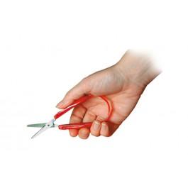 Sakset, jossa leikkaamista helpottava joustosanka, 7,5 cm