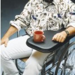 Pyörätuoli taittuva pöytälevy, oikea, pehmustettu, n. 24 x 55 cm