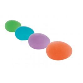 Käsiharjoittelupallo RFM, keskikova, sininen, munanmuotoinen